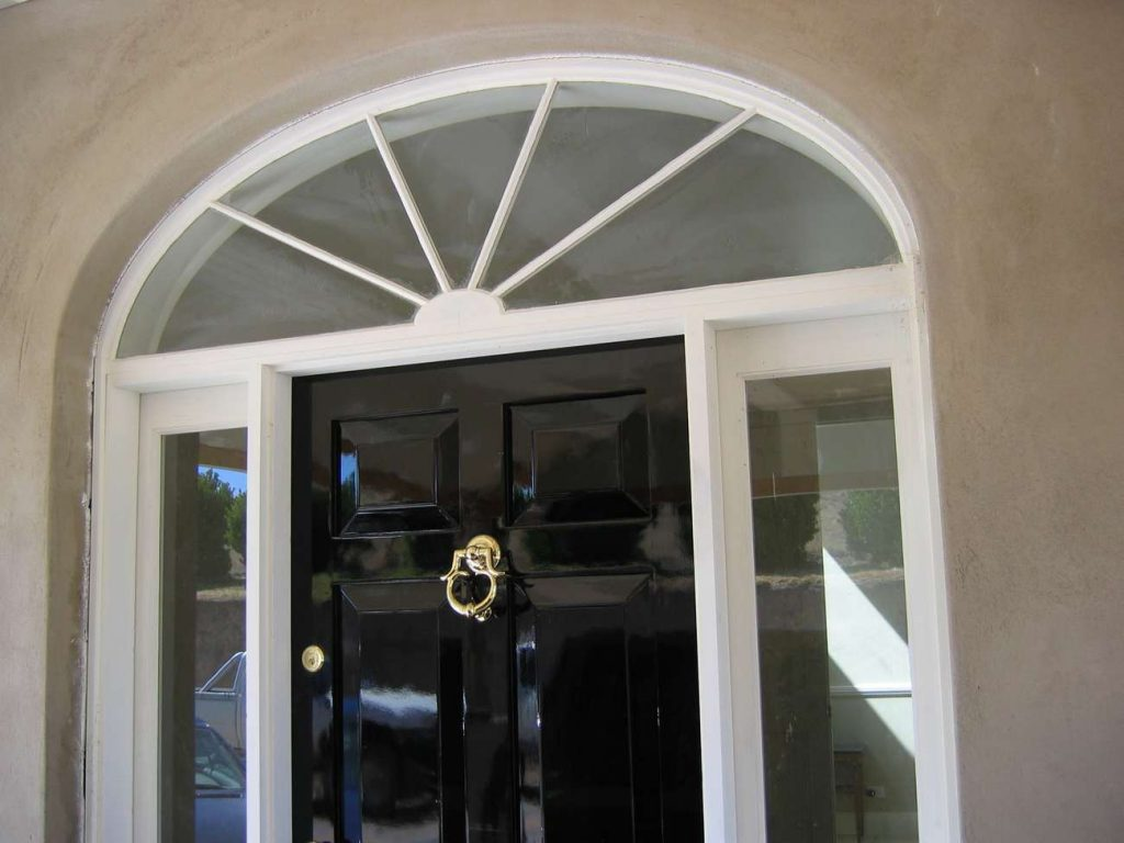 Timber Entry Arched door