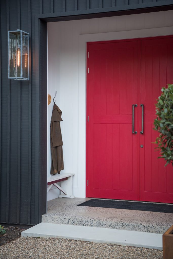 Entry Door in Painted Timber