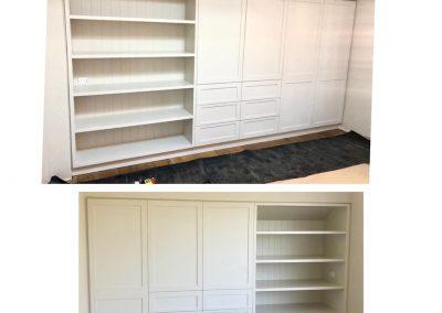Custom Wardrobe and Bookshelf