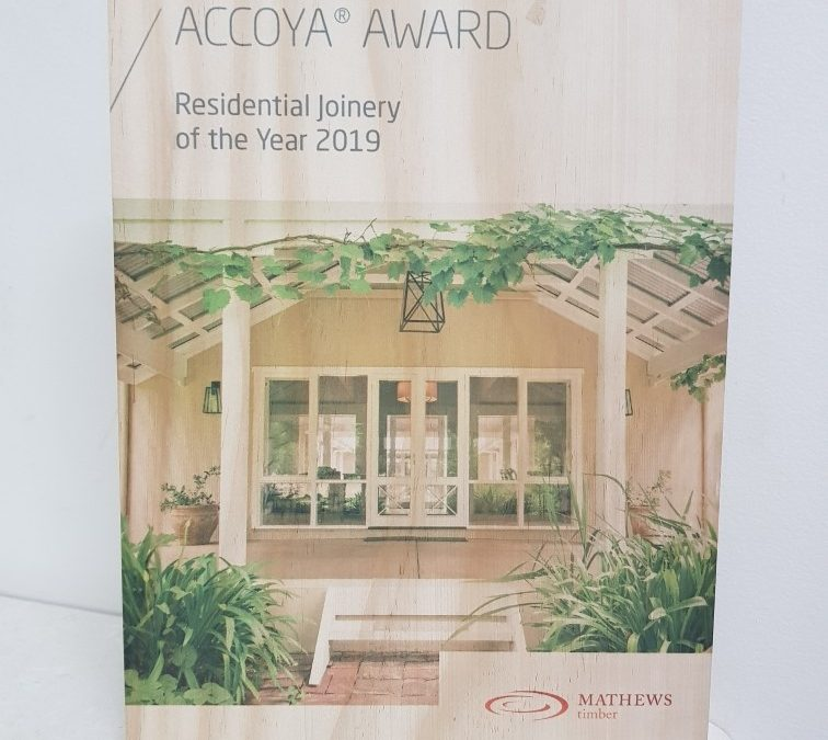 Accoya Award, Residential Joinery of the Year 2019